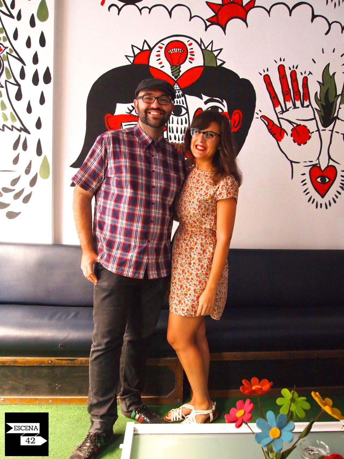 Santi y Noelia integrantes de Capitán Sunrise