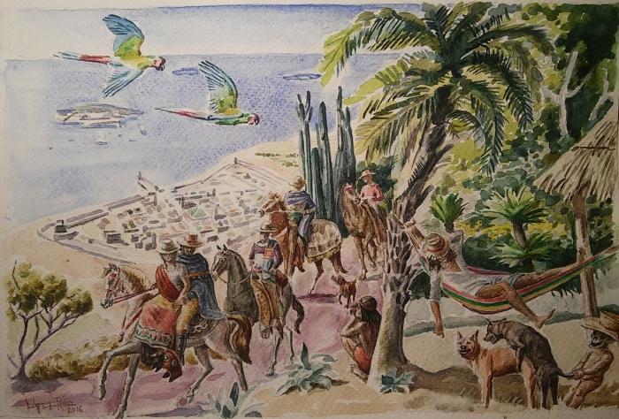 El Marqués de bradomín llegando a la ciudad de Veracruz