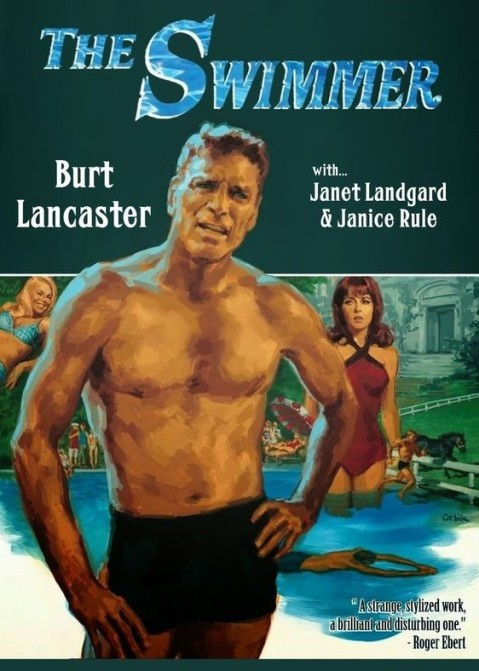 Cartel del film The swimmer. 1968